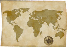 映射旧世界 免版税图库摄影