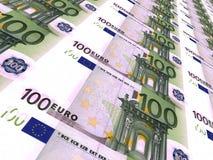 ευρο- ευρωπαϊκά νομίσματος ανασκόπησης ζωηρόχρωμα ευρώ εκατό ένα Στοκ Εικόνες