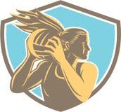 Ασπίδα σφαιρών αναπήδησης φορέων δικτυόσφαιρων αναδρομική Στοκ φωτογραφία με δικαίωμα ελεύθερης χρήσης