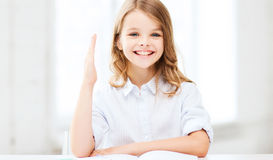 Девушка студента изучая на школе Стоковое Изображение RF