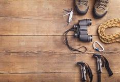 远足的设备 图库摄影