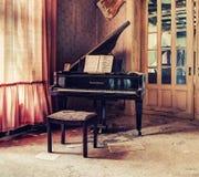 经典钢琴 免版税库存照片