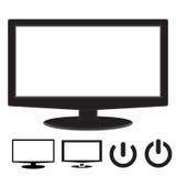 计算机显示器显示宽银幕圆角落 库存照片