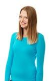 Νέα γυναίκα με το οδοντωτό χαμόγελο Στοκ εικόνα με δικαίωμα ελεύθερης χρήσης