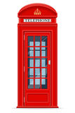 伦敦红色电话亭传染媒介例证 图库摄影