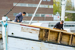 Καθορίζοντας σκάφος Στοκ εικόνα με δικαίωμα ελεύθερης χρήσης