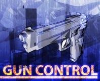 Ψηφιακή απεικόνιση έννοιας ελέγχου των όπλων αφηρημένη Στοκ Εικόνα