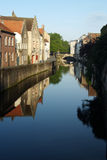 比利时布鲁日经典之作视域 免版税库存照片