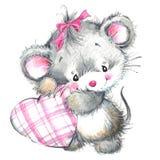 День валентинки и милое животное Стоковые Изображения