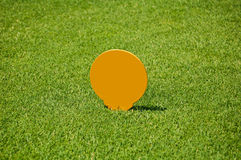 Тройник гольфа с отметки Стоковые Фото