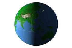 Все время на земле, Евразия Стоковые Фото