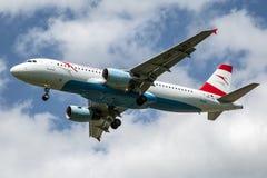 Австрийские авиакомпании Стоковое Изображение RF