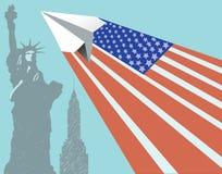 传染媒介美国旅行 免版税库存照片