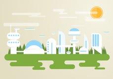 未来派的城市 免版税库存照片