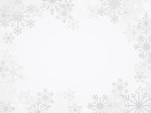 传染媒介冬天雪花背景 免版税库存照片