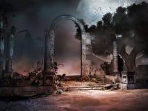 Καταστροφές του αρχαίου τάφου Στοκ εικόνες με δικαίωμα ελεύθερης χρήσης