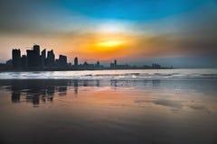 地平线在黎明 图库摄影