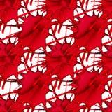 与红色水彩飞溅的抽象无缝的样式 抽象血液医疗纹理 向量背景 免版税库存照片
