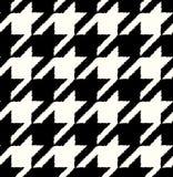 无缝的黑白方格的纺织品 库存照片