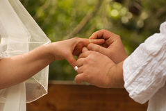 犹太人的婚礼 免版税图库摄影