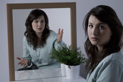 Женщина с расстройством личности границы Стоковые Фотографии RF
