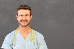 一位护士的画象有完善的微笑的 库存图片