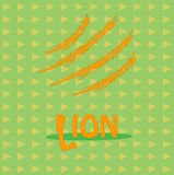 Κάρτα με το λιοντάρι επιγραφής για την επιχείρησή σας Στοκ εικόνα με δικαίωμα ελεύθερης χρήσης