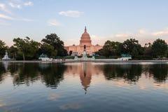 在华盛顿特区的美国首都大厦,美国 免版税库存照片