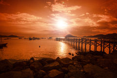 龙目岛风景 库存图片