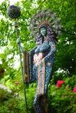有君权的-垂直神圣的女神 免版税库存照片