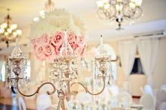 婚礼蜡烛立场 免版税库存照片