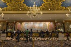 检查在威尼斯式旅馆的区域在拉斯维加斯 免版税库存照片