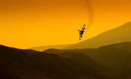 Верхний реактивный истребитель оружия Стоковая Фотография