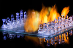 玻璃棋 免版税库存图片