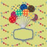 κάρτα γενεθλίων ευτυχής Υπόβαθρο εορτασμού με Στοκ Φωτογραφία