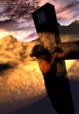 在十字架上钉死例证 库存图片