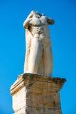 希腊雕象在集市 免版税库存照片