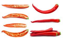 设置胡椒被隔绝在白色 免版税库存图片