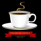 咖啡杯传染媒介,创造性的设计咖啡馆想法 免版税库存图片