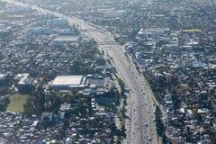布宜诺斯艾利斯鸟瞰图都市风景 免版税库存照片