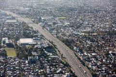Городской пейзаж вида с воздуха Буэноса-Айрес Стоковая Фотография