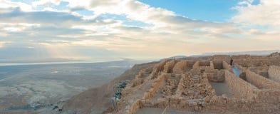 马萨达古老堡垒 免版税库存图片