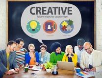 创造性的创新视觉启发定做概念 库存照片