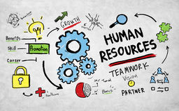 人力资源就业工作配合视觉概念 库存照片