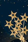 星条纹金卡片 库存图片