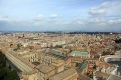 空中罗马视图 免版税图库摄影