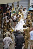 在狂欢节节日期间的街道执行者 里约热内卢, 库存照片