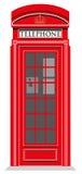 红色电话亭 库存图片