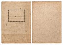 在白色背景隔绝的老被回收的法院记录盖子 免版税库存照片