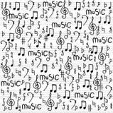Αφηρημένη απεικόνιση υποβάθρου σχεδίων μουσικής άνευ ραφής για το σχέδιό σας Στοκ Εικόνες
